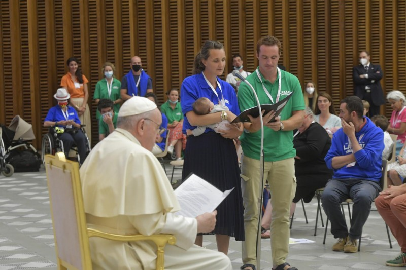 El Papa, con la asociación Lázaro