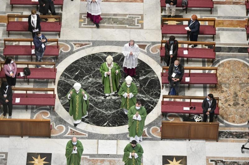 El Papa, en la Basílica de San Pedro