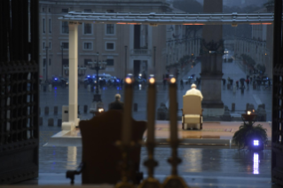 "7-Moment of prayer and ""Urbi et Orbi"" Blessing presided over by Pope Francis"