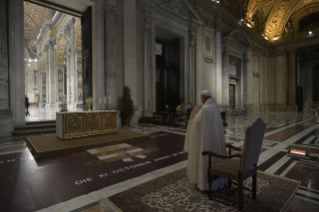 "17-Moment of prayer and ""Urbi et Orbi"" Blessing presided over by Pope Francis"