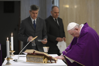 1-Holy Mass presided over by Pope Francis at the <i>Casa Santa Marta</i> in the Vatican: