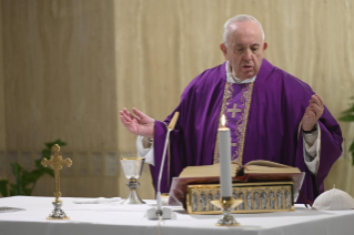 3-Holy Mass presided over by Pope Francis at the <i>Casa Santa Marta</i> in the Vatican: