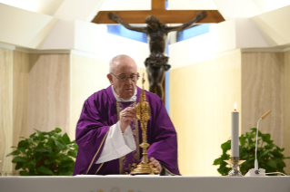6-Holy Mass presided over by Pope Francis at the <i>Casa Santa Marta</i> in the Vatican:
