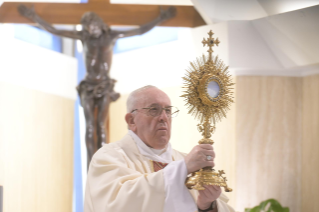 "8-Holy Mass presided over by Pope Francis at the Casa Santa Marta in the Vatican: ""Jesus is our pilgrim companion"""