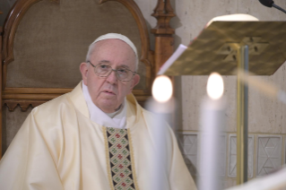 "1-Holy Mass presided over by Pope Francis at the Casa Santa Marta in the Vatican: ""We all have one Shepherd: Jesus"""