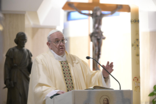 "3-Holy Mass presided over by Pope Francis at the Casa Santa Marta in the Vatican: ""We all have one Shepherd: Jesus"""