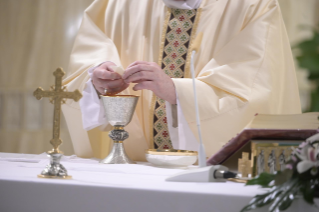 "7-Holy Mass presided over by Pope Francis at the Casa Santa Marta in the Vatican: ""We all have one Shepherd: Jesus"""