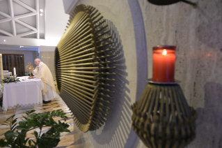 "8-Holy Mass presided over by Pope Francis at the Casa Santa Marta in the Vatican: ""We all have one Shepherd: Jesus"""