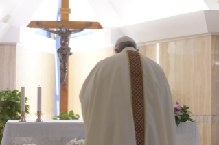 "0-Holy Mass presided over by Pope Francis at the Casa Santa Marta in the Vatican: ""Having the courage to see through our darkness, so the light of the Lord may enter and save us"""