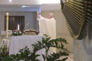 "8-Holy Mass presided over by Pope Francis at the Casa Santa Marta in the Vatican: ""Having the courage to see through our darkness, so the light of the Lord may enter and save us"""