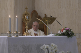 "11-Holy Mass presided over by Pope Francis at the Casa Santa Marta in the Vatican: ""Having the courage to see through our darkness, so the light of the Lord may enter and save us"""