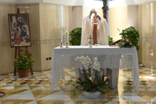5-Holy Mass presided over by Pope Francis at the Casa Santa Marta in the Vatican: