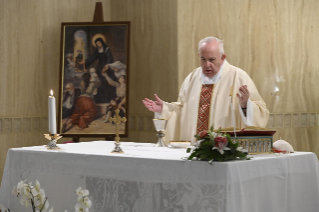 4-Holy Mass presided over by Pope Francis at the Casa Santa Marta in the Vatican: