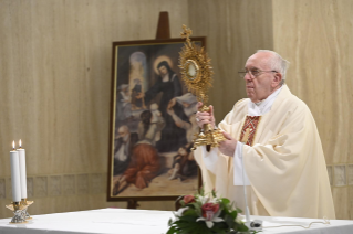 9-Holy Mass presided over by Pope Francis at the Casa Santa Marta in the Vatican: