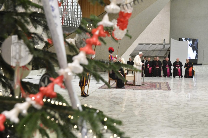 Francisco en el Aula Pablo VI