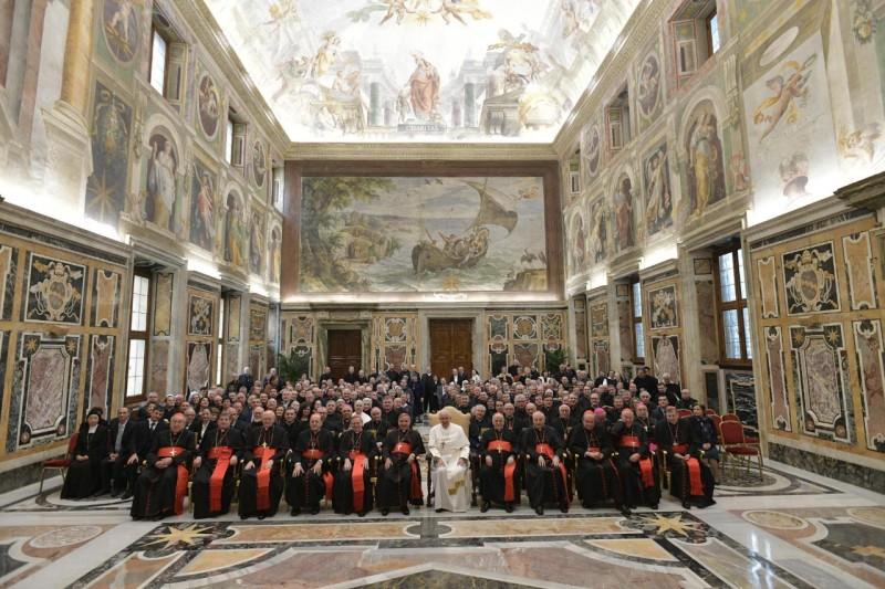 El Papa, con la Congregación para las Causas de los Santos