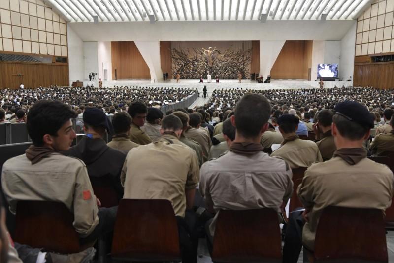 Miles de scouts europeos, con el Papa