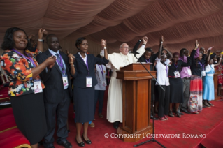 23-Apostolic Journey: Meeting with the young people at Kasarani Stadium