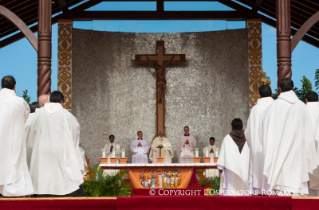 24-Apostolic Journey: Holy Mass in Christ the Redeemer Square (Santa Cruz de la Sierra)