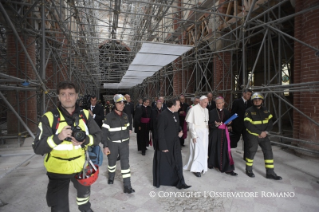 13-Pastoral Visit: Meeting with the people affected by the earthquake in Piazza Duomo