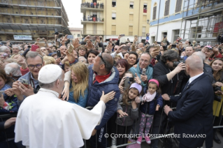 17-Pastoral Visit: Meeting with the people affected by the earthquake in Piazza Duomo