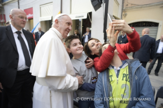 19-Pastoral Visit: Meeting with the people affected by the earthquake in Piazza Duomo