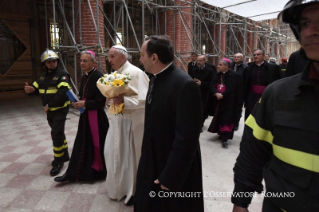 4-Pastoral Visit: Meeting with the people affected by the earthquake in Piazza Duomo