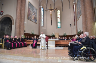 5-Pastoral Visit to Cesena: Meeting with the clergy, consecrated, lay people participating in pastoral Councils, members of the Curia and Parish representatives