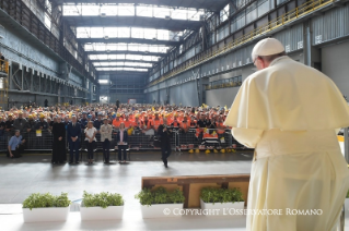 8-Pastoral Visit to Genoa: Encounter with representatives of the world of work
