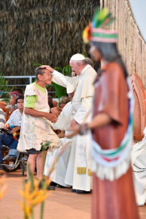 19-Apostolic Journey to Peru: Meeting with indigenous people of the Amazon Region