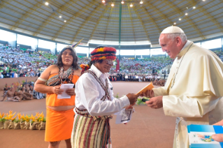 22-Apostolic Journey to Peru: Meeting with indigenous people of the Amazon Region