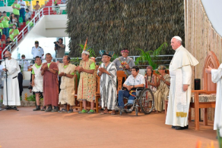 23-Apostolic Journey to Peru: Meeting with indigenous people of the Amazon Region