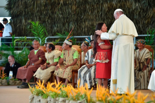 13-Apostolic Journey to Peru: Meeting with indigenous people of the Amazon Region