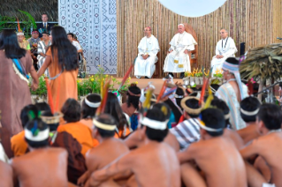 11-Apostolic Journey to Peru: Meeting with indigenous people of the Amazon Region