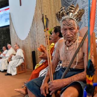 21-Apostolic Journey to Peru: Meeting with indigenous people of the Amazon Region