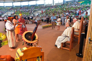 20-Apostolic Journey to Peru: Meeting with indigenous people of the Amazon Region