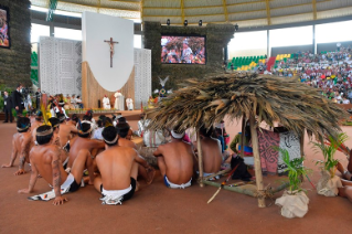 12-Apostolic Journey to Peru: Meeting with indigenous people of the Amazon Region