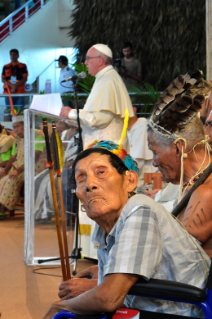 15-Apostolic Journey to Peru: Meeting with indigenous people of the Amazon Region