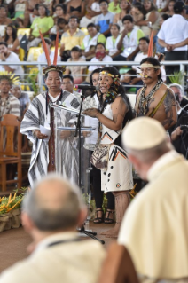 16-Apostolic Journey to Peru: Meeting with indigenous people of the Amazon Region