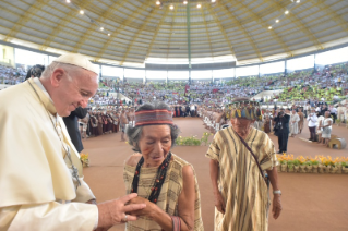 3-Apostolic Journey to Peru: Meeting with indigenous people of the Amazon Region