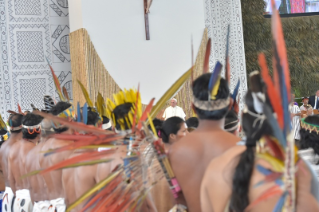 1-Apostolic Journey to Peru: Meeting with indigenous people of the Amazon Region