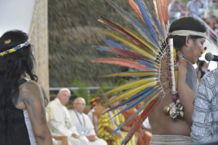 9-Apostolic Journey to Peru: Meeting with indigenous people of the Amazon Region