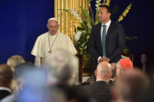 6-Apostolic Visit to Ireland: Meeting with Authorities, Civil Society and Diplomatic Corps