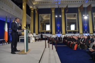 9-Apostolic Visit to Ireland: Meeting with Authorities, Civil Society and Diplomatic Corps