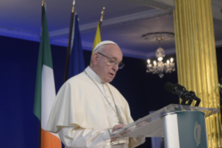 11-Apostolic Visit to Ireland: Meeting with Authorities, Civil Society and Diplomatic Corps