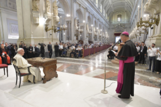 9-Pastoral visit to the diocese of Palermo: Meeting with the clergy, religious and seminarians