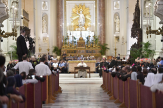 23-Pastoral visit to the diocese of Palermo: Meeting with the clergy, religious and seminarians