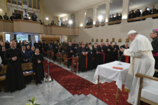 10-Apostolic Journey to North Macedonia: Meeting with Priests, their Families and Religious