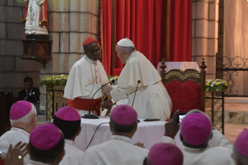 El Papa, con el cardenal