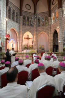 10-Apostolic Journey to Madagascar: Meeting with Bishops of Madagascar